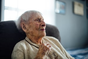 Rose Torphy at home in Fox Lake, Illinois. At 103, she is the oldest junior park ranger for the Grand Canyon.