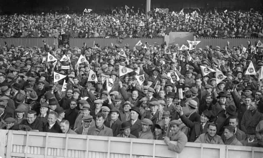 Fans watch the game at White Hart Lane.