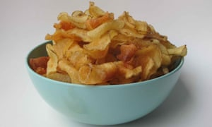 Simply salted … Felicity Cloake's perfect crisps.