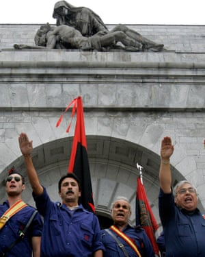 Rightwing falangists and Franco supporters at the Valley of the Fallen in 2006