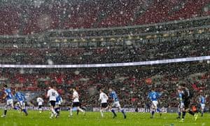 Tottenham and Rochdale players at Wembley last season