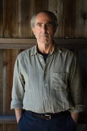 Philip Roth poses at his home in Warren, Connecticut, in 2005.