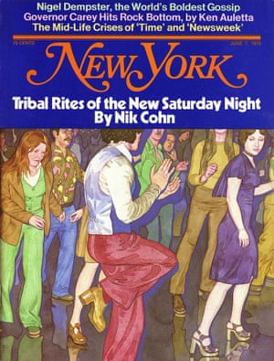 Tribal Rites of the New Saturday Night by Nik Cohn as featured on a 1976 New York magazine cover.
