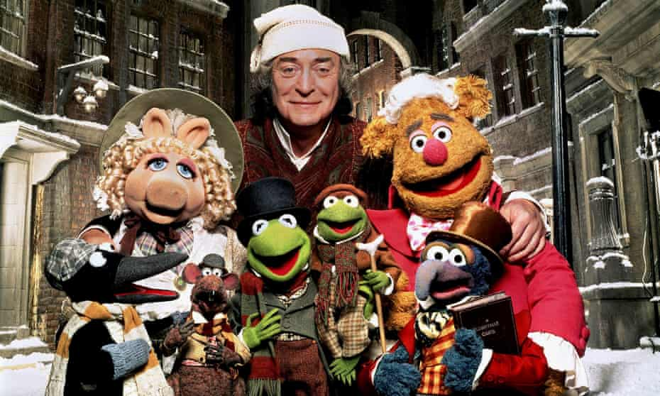 The acting and casting are flawless … Miss Piggy, Rizzo, Kermit, Michael Caine, Fozzy Bear and Gonzo in The Muppet Christmas Carol.