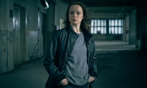 Samantha Morton as Naomi in The Last Panthers.