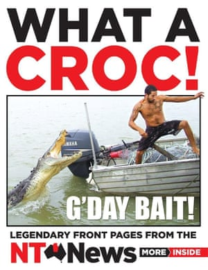"""""""What A Croc!"""" book cover. The book has won a News Award for best specialist publication. Supplied by NT News publisher Hachette Australia."""