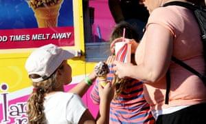 Children order ice cream and sugary drinks
