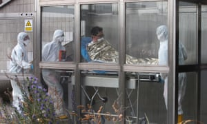 A South Korean patient suspected of suffering from Mers is admitted to Kramare hospital in Bratislava