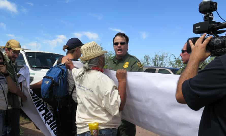 A US border patrol agent Arizona protests