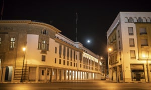 An empty street in Rabat on New Year's Eve: Morocco introduced a night-time curfew on 23 December.