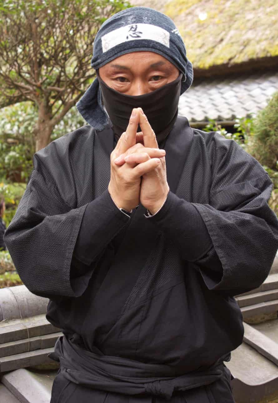 A ninja performer at the Ninja Museum of Iga-ryu located in Iga, Mie prefecture, Japan.