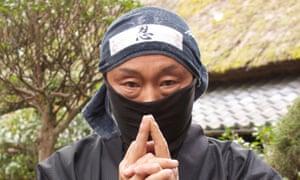 A ninja performer at the Ninja Museum in Iga, Japan