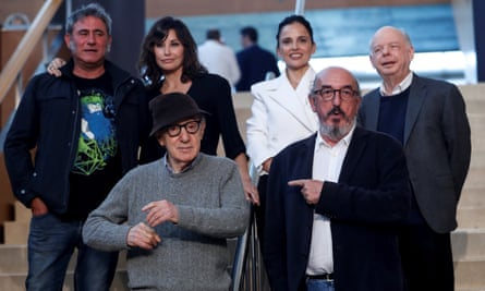Woody Allen at a press conference in San Sebastián last year with the cast and crew of Rifkin's Festival.