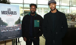 Ladj Ly with Djebril Zonga, one of the stars of Les Misérables, which has been described as a 'universal film about segregated society'.