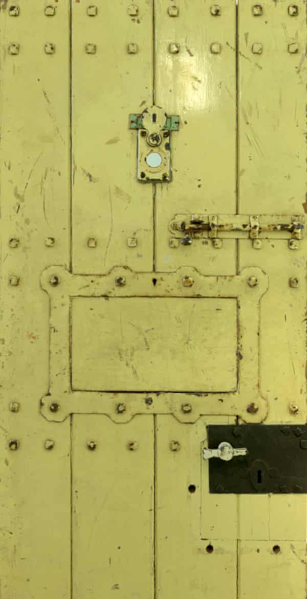 'Like a headstone in the chapel': the original door to Oscar Wilde's cell.