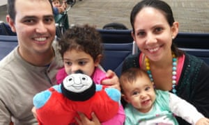 Nimaris Niebla-Gonzalez with her fiancée, Mario Martinez, and their two daughters, Daniella, 3, and Olivia, 10 months.