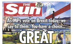 The Sun's front page on 12 June 2018.