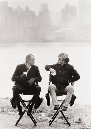 Robert Redford and Richard Helms, New York 1975 'I was on the set of Three Days of the Condor,' said O'Neill. 'Robert Redford was the lead and we knew that the former director of the CIA Richard Helms was serving as his personal consultant. Everyone was very tight-lipped about his visits to the set. I saw them sitting together from a distance. It was perfect, both having coffee in Styrofoam cups, an eerie and foggy city in the background and two very powerful men sitting on director's chairs'