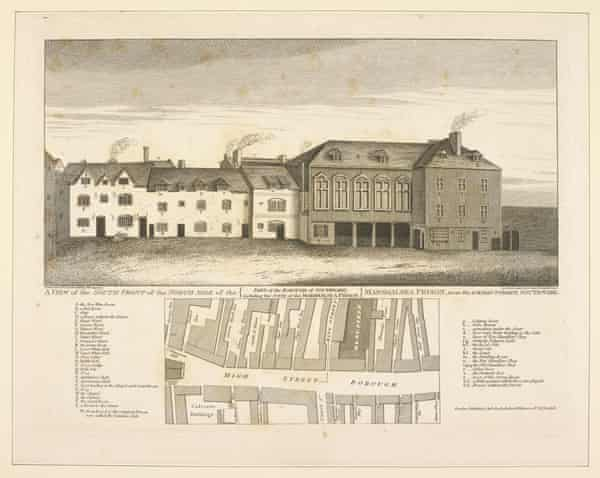 The Marshalsea debtors' prison, where Charles Dickens's father, John, was sent in 1824.