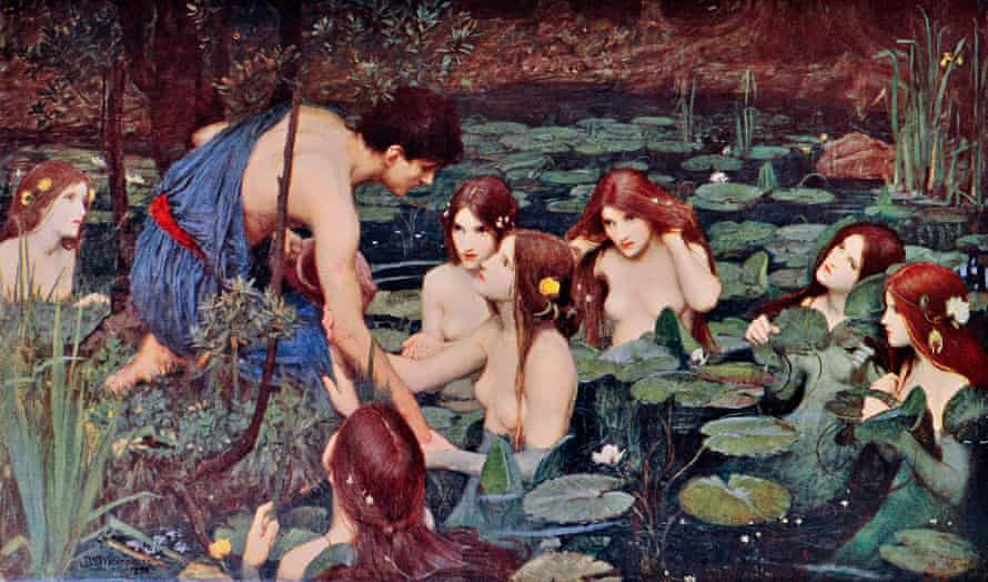 Hylas and the Nymphs by John William Waterhouse, which Boyce removed from the walls of Manchester Art Gallery