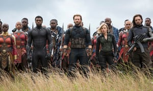 : the heroes prepare for battle in Avengers: Infinity War.