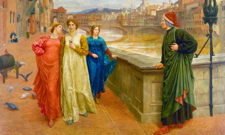 Love frustrated ... detail from Dante and Beatrice by Henry Holiday.