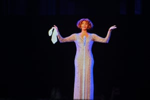 Madrid, Spain A hologram of late singer Whitney Houston appears during the dress rehearsal of An Evening with Whitney Houston. The musical will be world premiered on 31 October