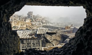 scenes of destruction in the old city of Mosul