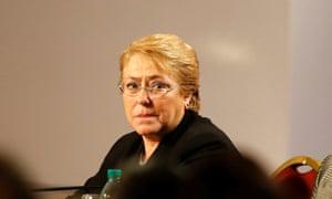 Chile's President Michelle Bachelet
