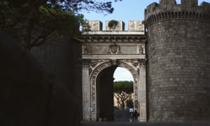 Porta Capuana is one of Naples' old city gates, built by the Aragonese dynasty in 1484.