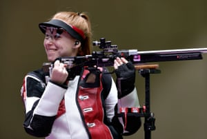 Nina Christen of Switzerland celebrates after winning gold.
