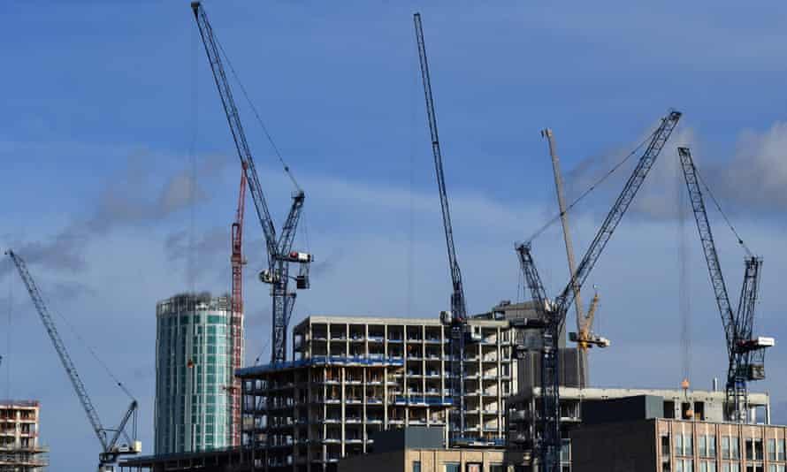 A new housing development in Nine Elms, south-west London