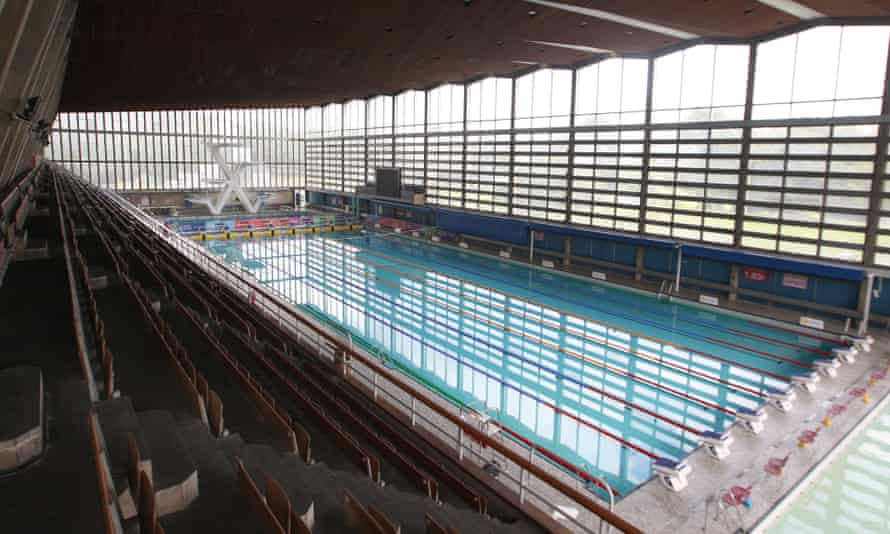 The 50-metre swimming pool and diving pool at Crystal Palace in 2011