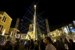 Byblos, north of Beirut in the Lebanon opted for an abstract gold tree