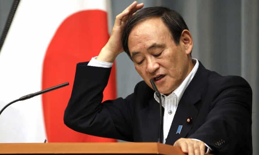 Japan's chief cabinet secretary, Yoshihide Suga