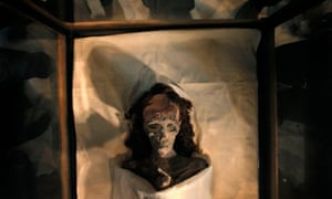 The mummy of King Tutankhamun's grandmother, Queen Tiye.