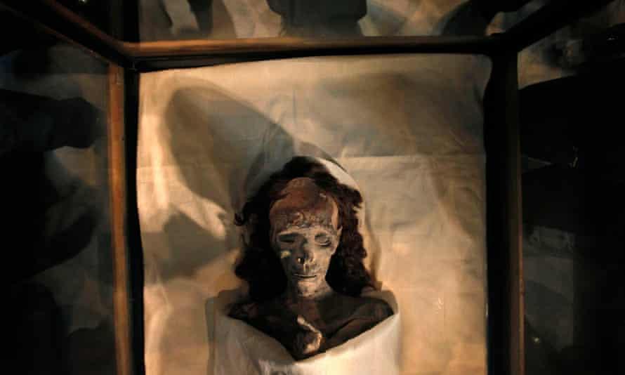 The mummy of King Tutankhamun's grandmother, Queen Tiye.