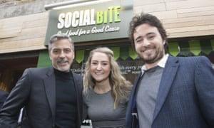 George Clooney, Alice Thompson and Josh Littlejohn.