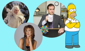 Goodbye to all that … The Lord of the Rings, Jennifer Aniston, Steve Carell in The Office and Homer Simpson.