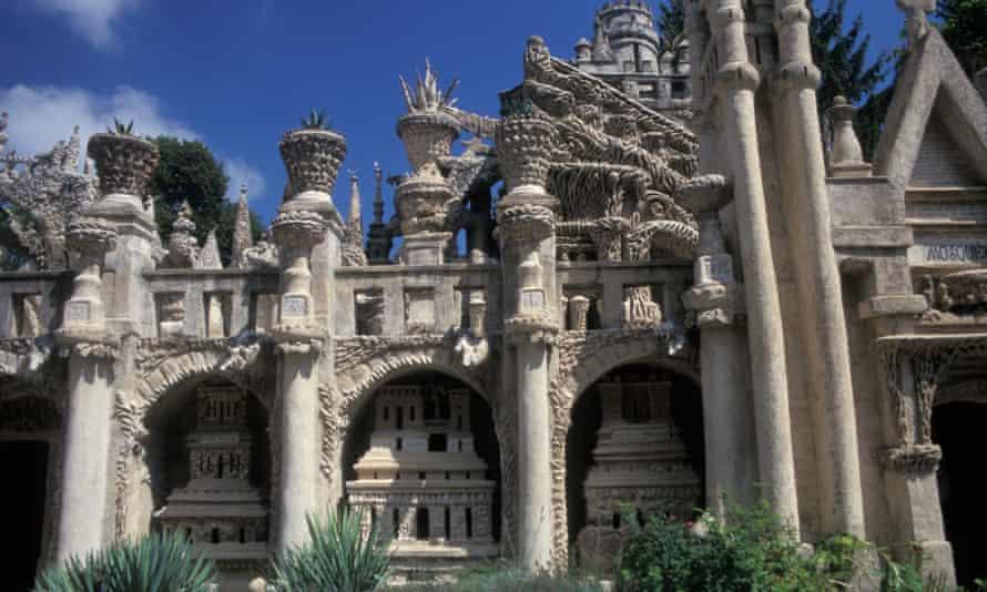 Palais Idéal du Facteur Cheval in Hauterives, Drôme, France.