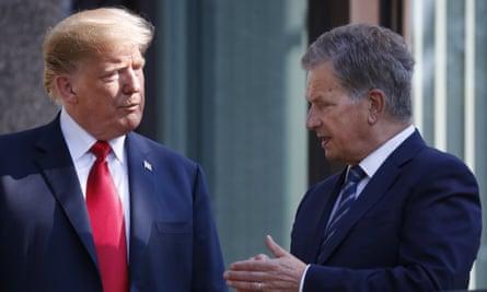 Donald Trump and Sauli Niinistö