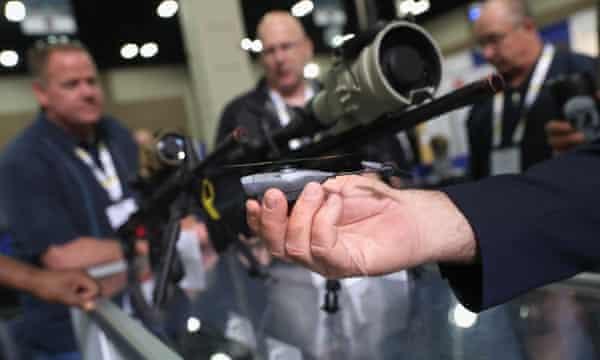 A nano drone at last month's Border Security Expo in San Antonio, Texas.