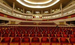 Henry Le Boeuf concert hall at Bozar, Brussels, Belgium.