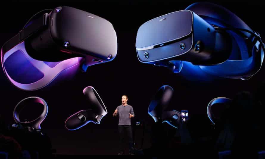 Mark Zuckerberg introducing the Oculus Quest