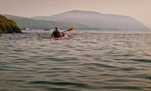 Sea kayaking off the Llŷn peninsula.