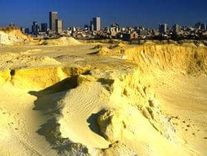 Johannesburg, viewed from an old goldmine dump.