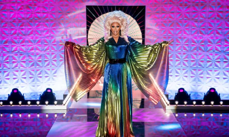 'The show is like a drag queen.  It's a TV show, but it also acquires all these things from different elements of the culture.  The format itself is in a row.  '