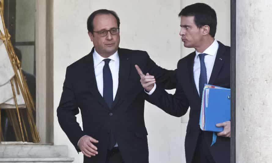 François Hollande (left) and Manuel Valls