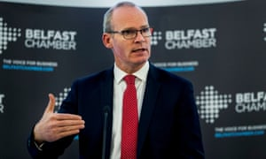 Simon Coveney speaking at the Crown Plaza Hotel during the annual Belfast Chamber of Commerce lunch.