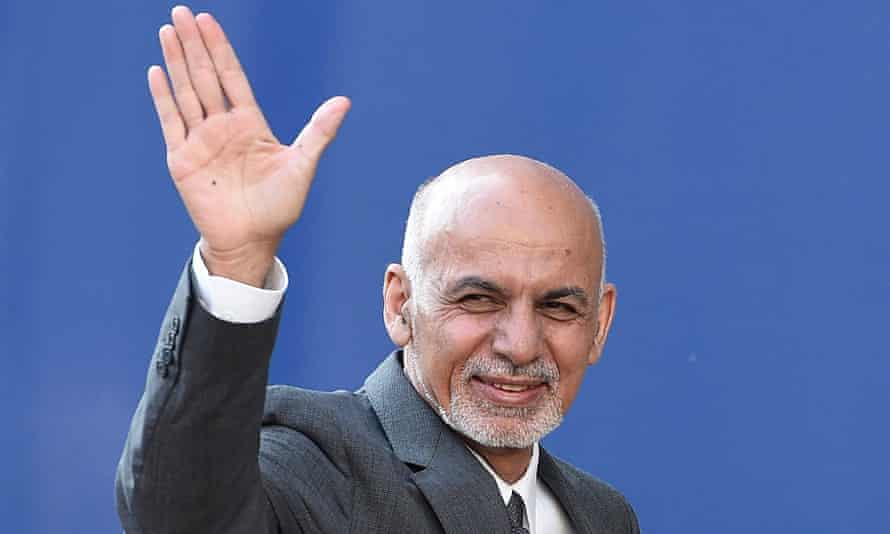 Ashraf Ghani arrives for the anti-corruption summit in Lancaster House in London.